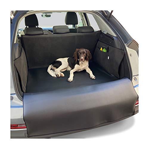 PaulePet Kunstleder Kofferraumschutz Hunde mit Ladekantenschutz in 4 Größen - Universale Autodecke für SUV, Kombis, Kompaktwagen - Kofferraumschutzdecke wasserabweisend & pflegeleicht & Kratzfest