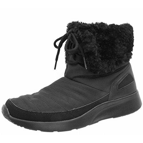 Nike Damen WMNS Kaishi WNTR HIgh Schutzstiefel, Black (Schwarz/Metallic Silver), 38.5 EU