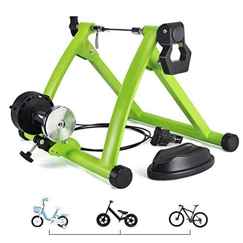 Tanceqi Fietstrainer voor binnen en buiten, magnetische weerstand, 6 snelheden, voor straat, mountainbike, trainer, fietsen
