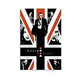 NCCDY Filmposter 007 Casino Royale auf Leinwand, Wandkunst,