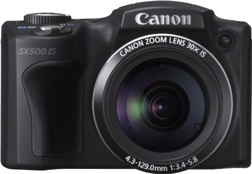 Canon PowerShot SX500 IS Digitalkamera (16 MP, 30-fach Ultrazoom, 7,5cm (3 Zoll) LCD) schwarz