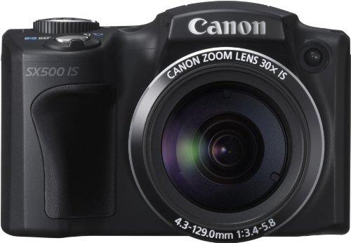 Canon PowerShot SX500 IS Fotocamera Compatta Digitale 16 Megapixel, Zoom ottico 30x, colore: Nero