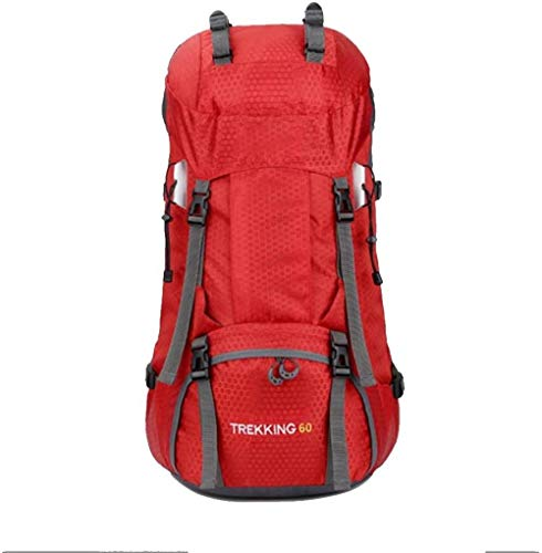 Hiking Backpacks Large Capacity Waterproof 60L Mountaineering Bag Outdoor Sports Backpack Hiking Camping Hard To Drink Female Shoulder Bag With Rain Cover-A