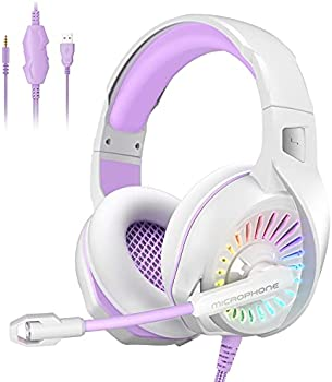 Nivava Gaming Headset with LED Light Mic