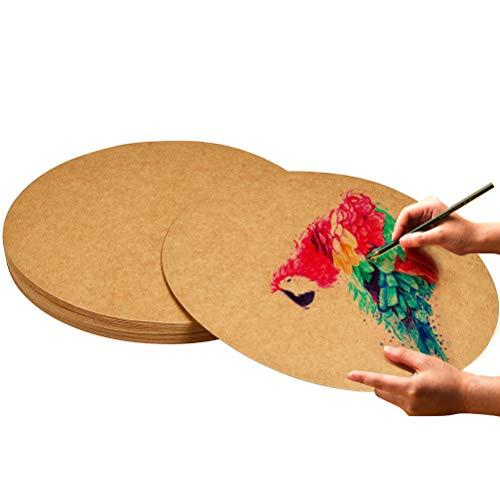 QLOUN QLOUNI 50 Blättern Kraftkarton 25cm x 25cm Kraftpapier 250g/m² Bastelpapier & Naturkarton Bastelkarton Karte Kartonpapier Basteln für Vintage Hochzeit Geschenke Etikette