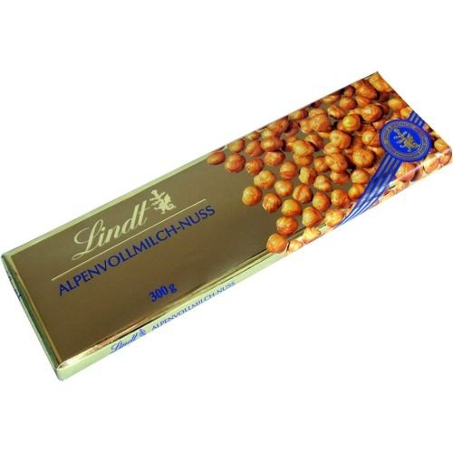 Lindt & Sprüngli Vollmilch Nuss Schokolade Extra (300g Tafel)