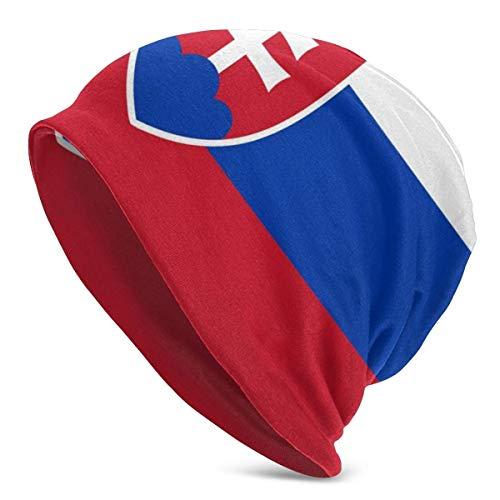 Mxung Eslovaquia Flags Countries Knit Beanies para Hombres Mujeres Sombreros de Invierno Gorras de Cobertura