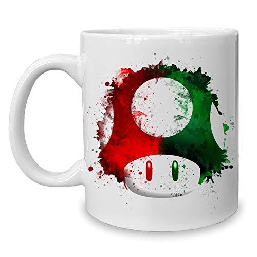 shirtdepartment - Kaffeebecher - Tasse - Gaming & Film Motive Super Mario - Pilz