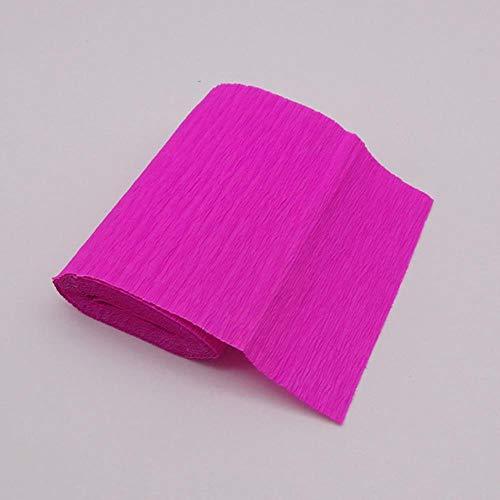 250 x 10 cm Crêpe-papier knutselen bloem verpakking papier scrapbooking Origami geschenken decoratie verpakking materiaal Roos Rood