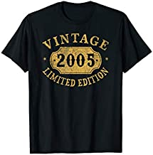 2005 15 years old 15th Limited Birthday, Anniversary Gift T-Shirt