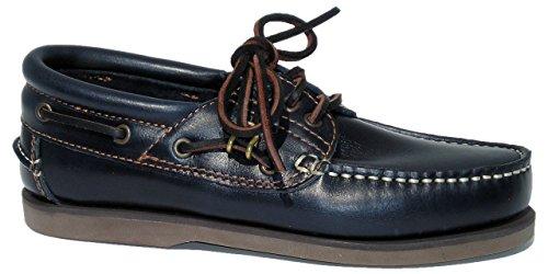BluePort Herren Klassik Comfort Segelschuh - Klassischer Bootsschuh in blau und weiteren Farben, Größe:45 EU