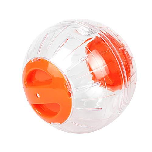 Hemobllo Hamster Ball Joggingball Hamster Laufrad Spielzeug 12cm (Orange)