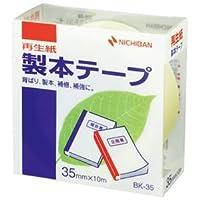 (まとめ) ニチバン 製本テープ<再生紙> 35mm×10m パステルレモン BK-3530 1巻 【×10セット】 ds-1584320