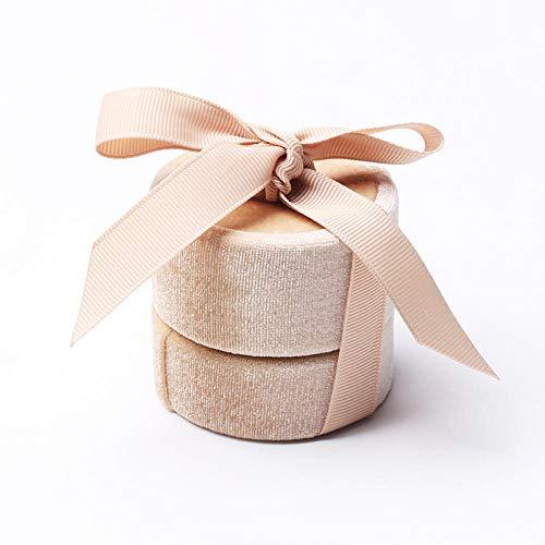 Caja de joyería de terciopelo dorado Caja de anillo Caja de collar colgante Propuesta Caja de joyería Caja de embalaje de regalo-Caja de anillo pequeña de oro
