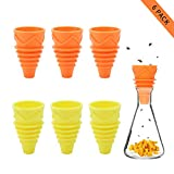 007mrright 6Pack Fruit Fly Traps for Kitchens, Reusable Fly Trap for Indoor