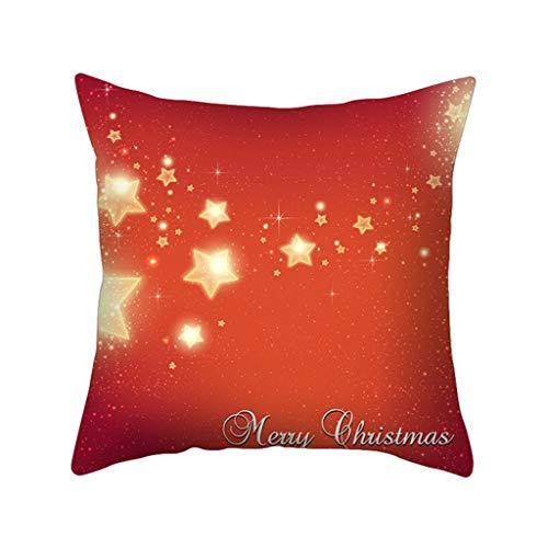 Cuteelf Weihnachten Kissenbezug nach Hause nordischen Stil Kissen Schneeflocke vergoldet Weihnachten Kissenbezug, für Wohnzimmer Schlafzimmer Kissenbezug und Tischset Geschenk