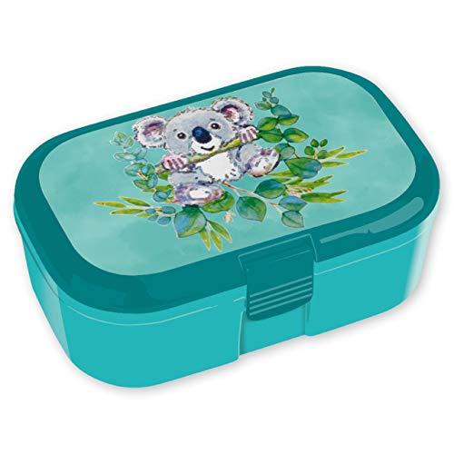 TapirElla 10672 Brotdose Koala, mit Behälter für Obst, Gemüse usw., für Kinder, Kindergarten, Schule, Vesperdose Brotdose