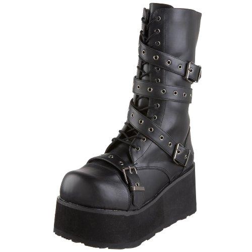 Demonia by Pleaser Men's Trashville-205 Buckle Boot,Black PU,10 M US