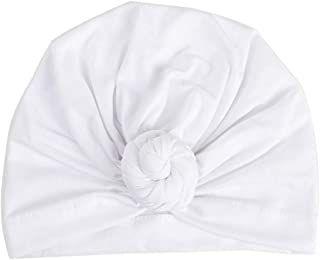 Tiean Fashion Women Warm Cotton India Ski Hat Boho Braided Turban Headdress Cap (White)