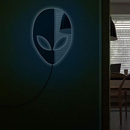 Alien head espejo de pared decoración del hogar diseño moderno marcianos espejo decorativo con...