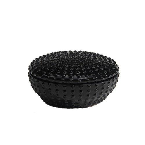 INDUSTREAL UNI contenitore portagioie in porcellana nera smaltata