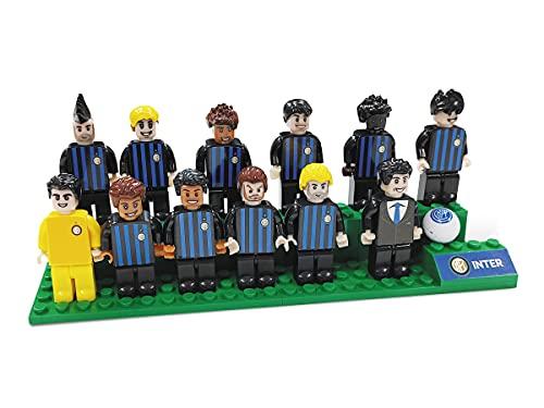 Mondo- Squadra Toys – Brick Team Milano de colección – Equipo de fútbol del Inter, Jugadores y Entrenadores – Color Negro y Azul – 25593