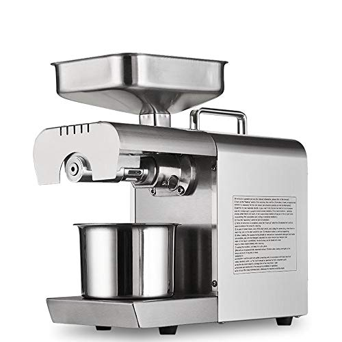 BAOSHISHAN Household Oil Press Machine Electric Oil Presser for Pressing Peanut Sesame Rapeseed Oil Cold Press Machine (110V)