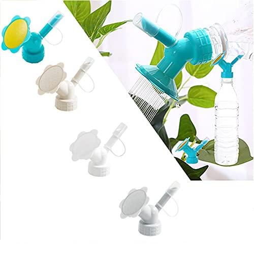 HHKX100822 2 In 1 Plastic Sprinkler Nozzle, Flower Waterers Bottle Watering Cans Sprinkler Shower Head Garden Tool For Most Beverage Bottles 4PCS