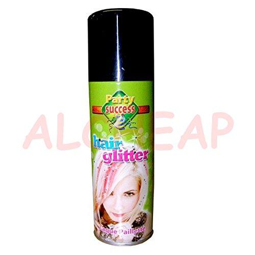 Laque Paillette Pailleté ARGENT pour cheveux 125mL Spray Aerosol
