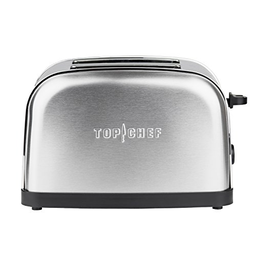 tostapane 850w 2 fette Top Chef TOPC534 - Griglia pane toaster 2 fette larghe in acciaio inox vintage