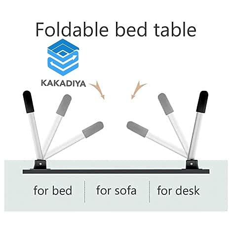 DK ENTERPRISE Multi-Purpose Laptop Table - Foldable Bed Study Table for Children Bed Foldabe Table Work Office Gaming Home with Tablet Slot & Cup Holder Study Table(BLACK FLOWER)