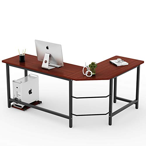 Tribesigns Modern L Shaped Desk Corner Computer Desk ...
