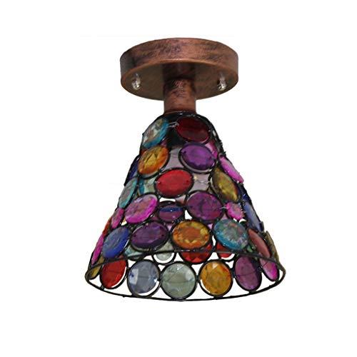 SPNEC Retro lámparas de Techo, Tejido a Mano de iluminación de Techo, luz de Techo de la Entrada Salón ala del balcón