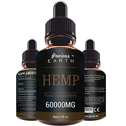 PRECIOUS EARTH 60000MG/60ML Premium Oil Drops, Natural Dietary Supplement, Immune System Support