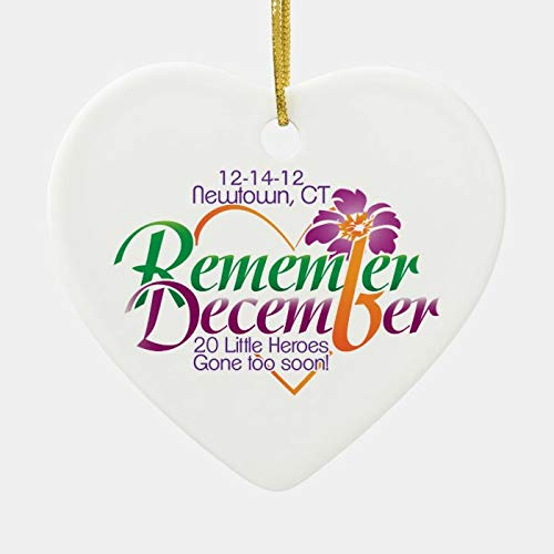 Dom576son Christmas Ornaments, Newtown Memorial Heart Ornament, 3 Inch Christmas Hanging Ornament for Christmas Tree Decorations