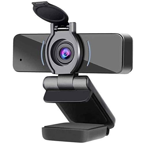 ZILNK Videocamera USB 1080P, Webcam con Microfono, Laptop Desktop PC Videocamera Web Full HD per Videochiamate, Studio, Conferenze, Registrazione, Riproduzione con Clip Rotante, USB 2.0