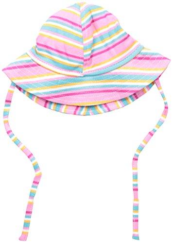 Zutano Baby Girls' Hot Pink Multi Stripe Sunhat,...