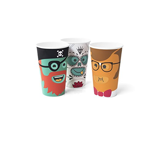 Party Cups For Kids With Character Faces That Change When Turned Around Cup - Silly Birthday Party Cups for Kids - Fun Party Favors, 12 Pack