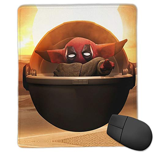 Dead_Pool Baby Yooda Mouse Pad Non-Slip Gaming Mouse Mat for Desktop Laptop Keyboard Consoles 25 x 30cm