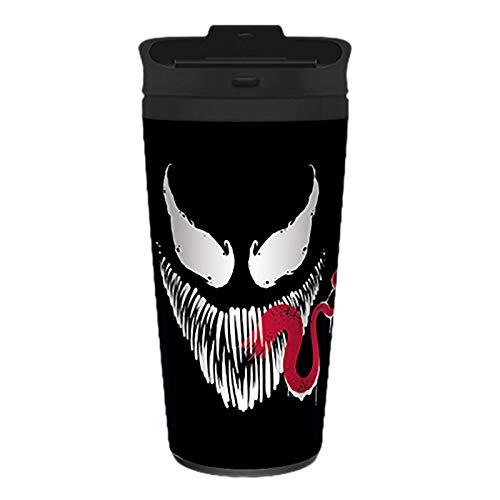 Venom Metal Travel Mug Coffee-To-Go-Becher Face grau, bedruckt, aus doppelwandigem Edelstahl.