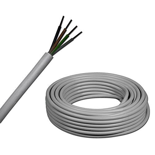 Meterware auf den Meter genau: NYM-J 4x1,5 mm² (mm2) Mantelleitung - Installationsleitung - grau - Auswahl in 1 Meter Schritten - Beispiel: 5 m - 10 m - 15 m - 18 m - 20 m - 25 m - 50 m usw.