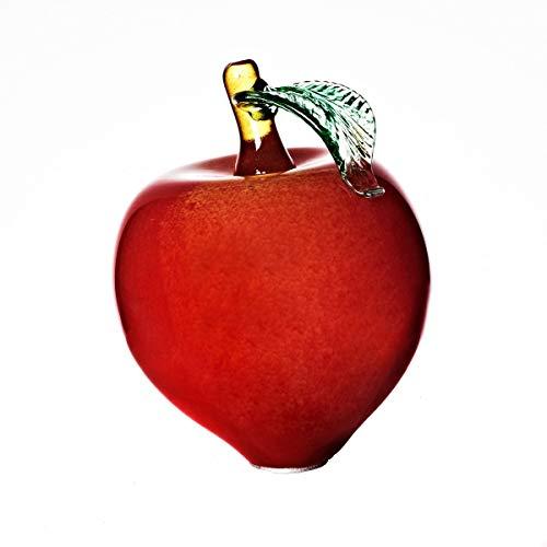 Cristalica Gartenkugel Apfel groß Rosenkugel Glas Mundgeblasen rot 20 cm mit Stab
