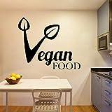Etiqueta De La Pared Pegatina Colorido Comida Vegana Extraíble Pvc Decoración Del Hogar Sala De Estar Dormitorio Arte Mural 42 * 50 Cm