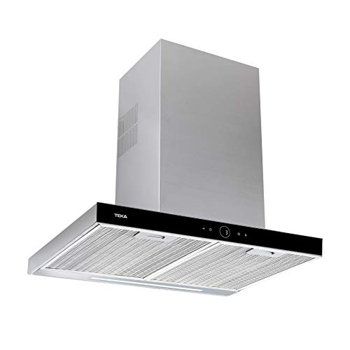 Teka - Campana Extractora, Touch Control y Motor ECOPOWER, Modelo DLH 786, Negro, 67 x 90 x 48 cm
