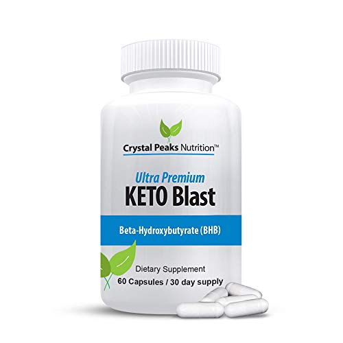 Ultra Premium Keto Blast, Keto Pills for Weight Loss, Fat Burning Pills for Men and Women, 60 Capsules, 30-Day Supply - Crystal Peaks Nutrition