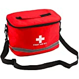 Botiquín de primeros auxilios para acampada, bolsa médica de emergencia, impermeable, con correa de hombro, kits de supervivencia, bolsa de almacenamiento vacía al aire libre (color: bolsa vacía)