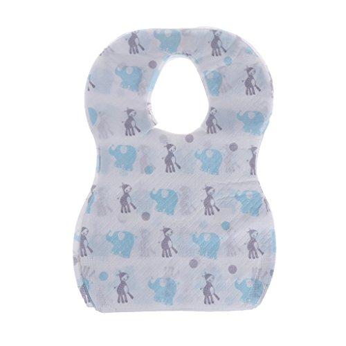 Einweg-Lätzchen, steril, für Kinder, wasserdicht, mit Tasche, 20 Stück