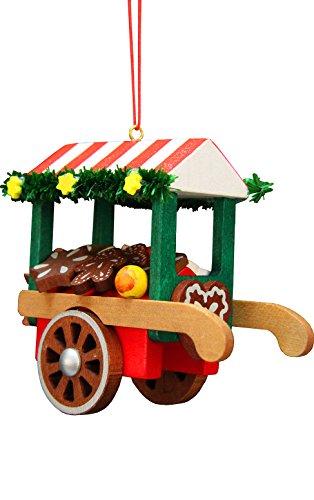 Christbaumschmuck Marktwagen mit Lebkuchen - 7,5cm