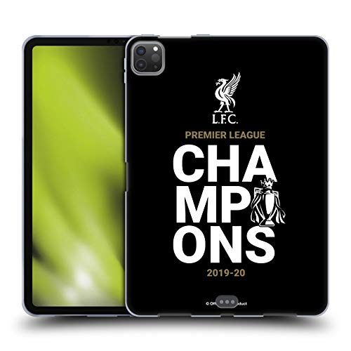 Official Liverpool Football Club Black Typography 2020 Champions Soft Gel Case Compatible for Apple iPad Pro 11 (2020)