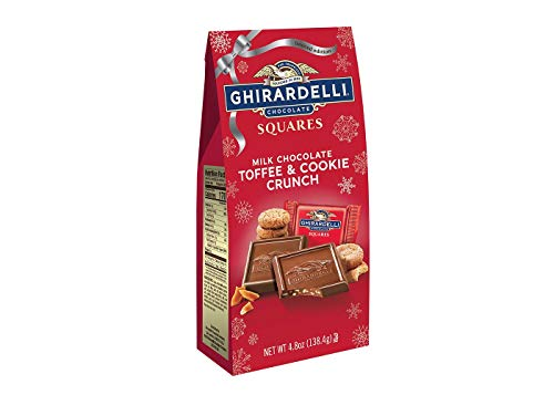 Exclusive Limited Edition Ghirardelli Milk Chocolate Cookie Crunch Squares - milk chocolate with caramalized cookie bits